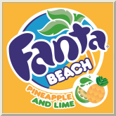 Fanta Beach Pineapple and Lime