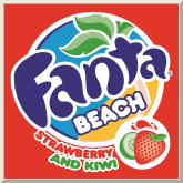 Fanta Beach Strawberry and Kiwi